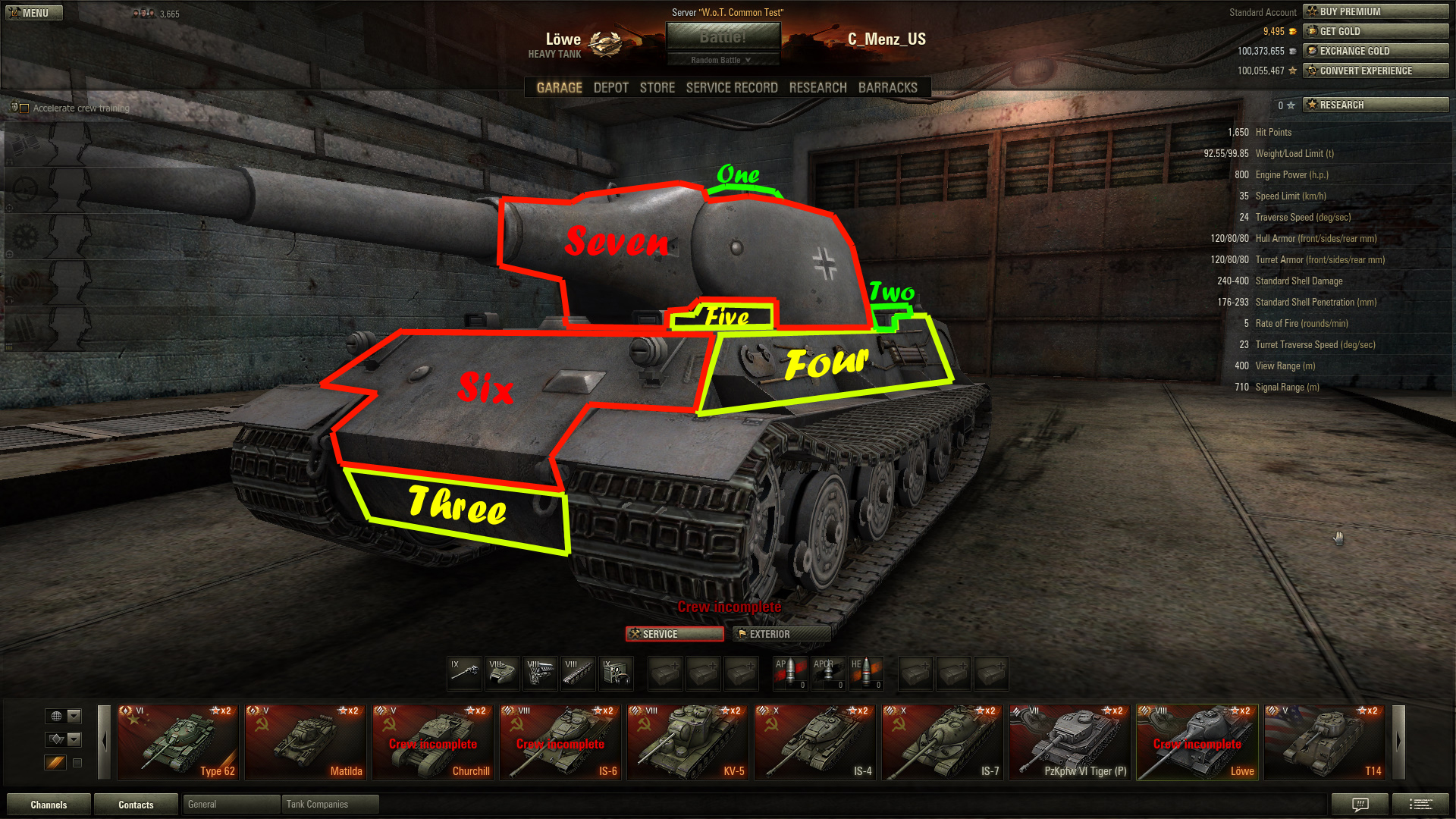how to know the range of a tank in wot
