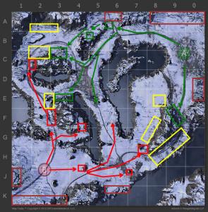 Mapa Estrategia Región ártica