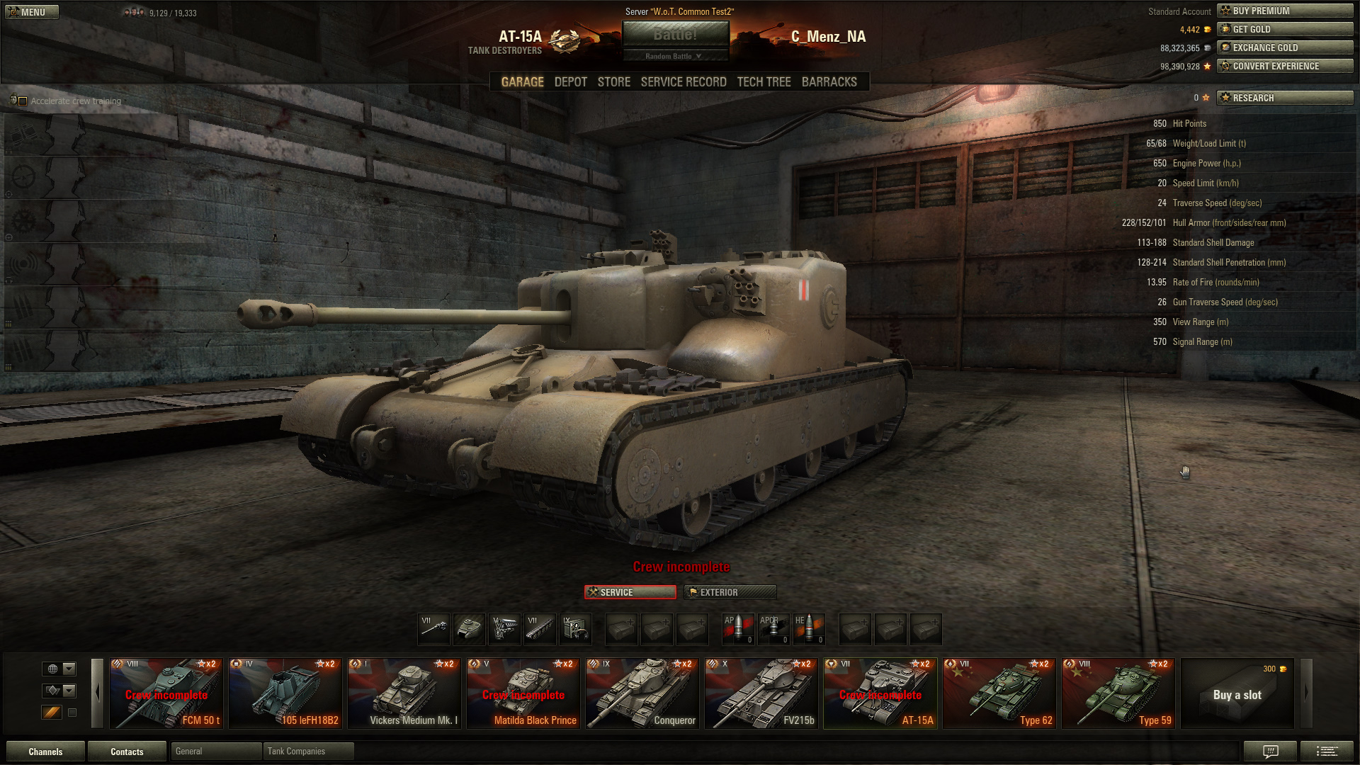 Tank Guide: AT-15A - World of Tanks