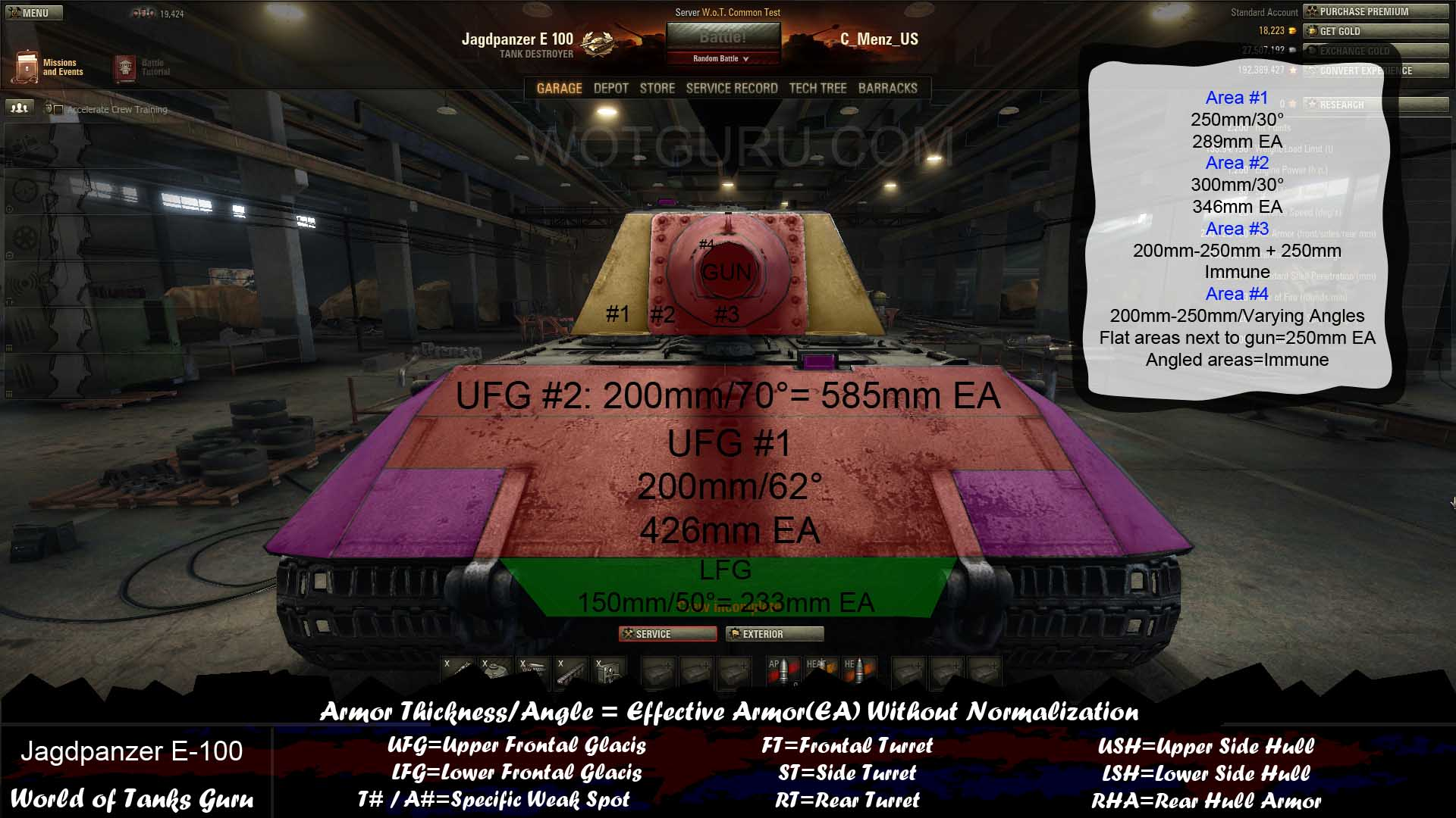 Weak Spot Guide: Jagdpanzer E-100 - WoT Guru