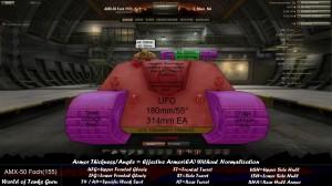 World of Tanks AMX 50 Foch 155 Weak Spots Front