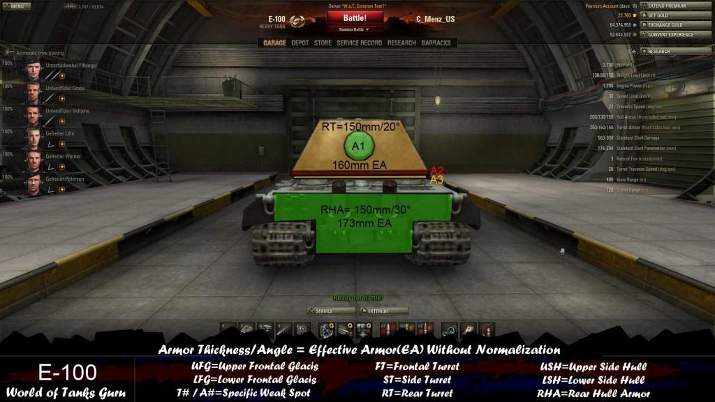 Weak Spot Guide: E-100 - World of Tanks Guru