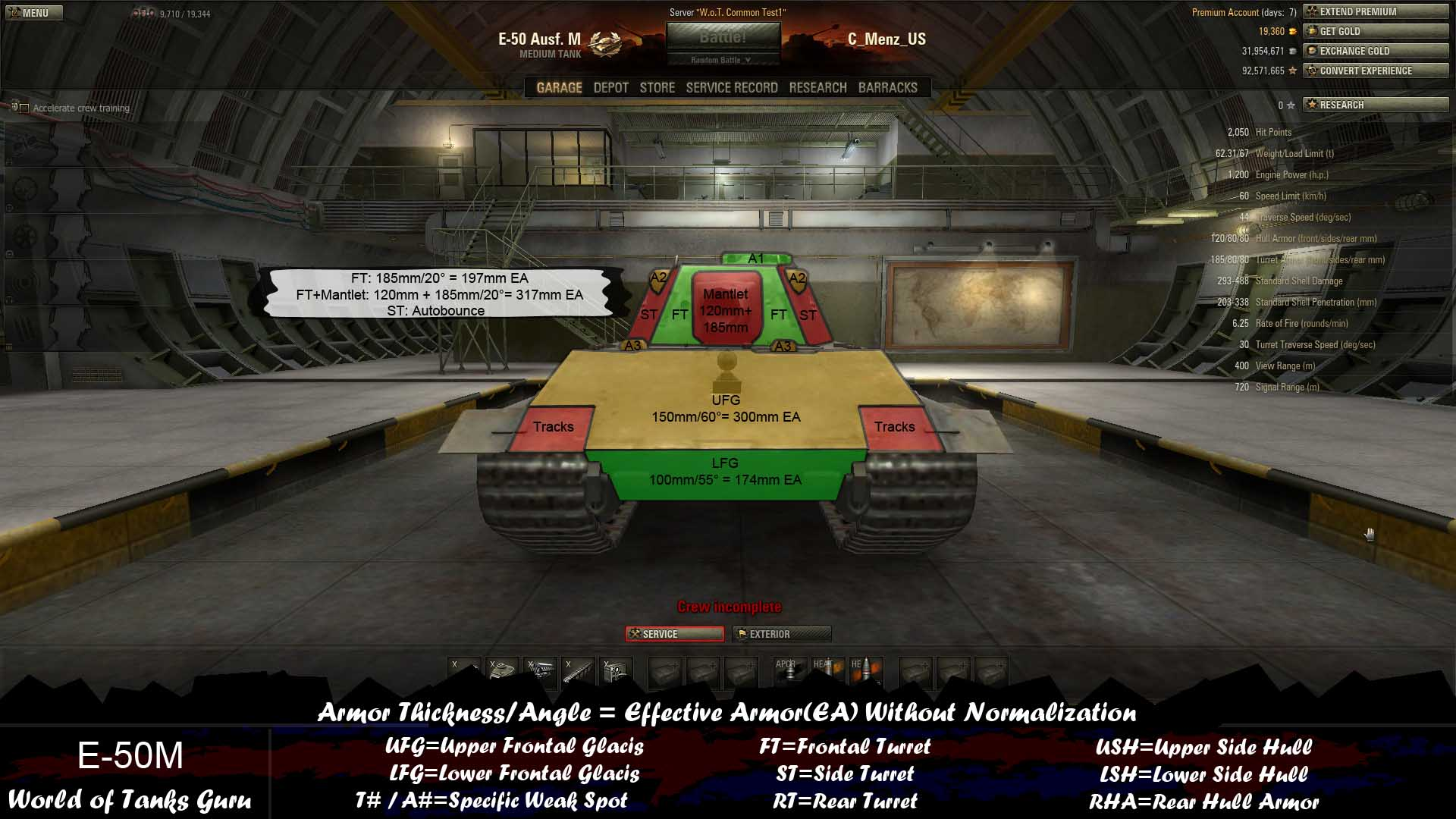 Weak Spot Guide: E-50/E-50 Ausf. M - World of Tanks Guru