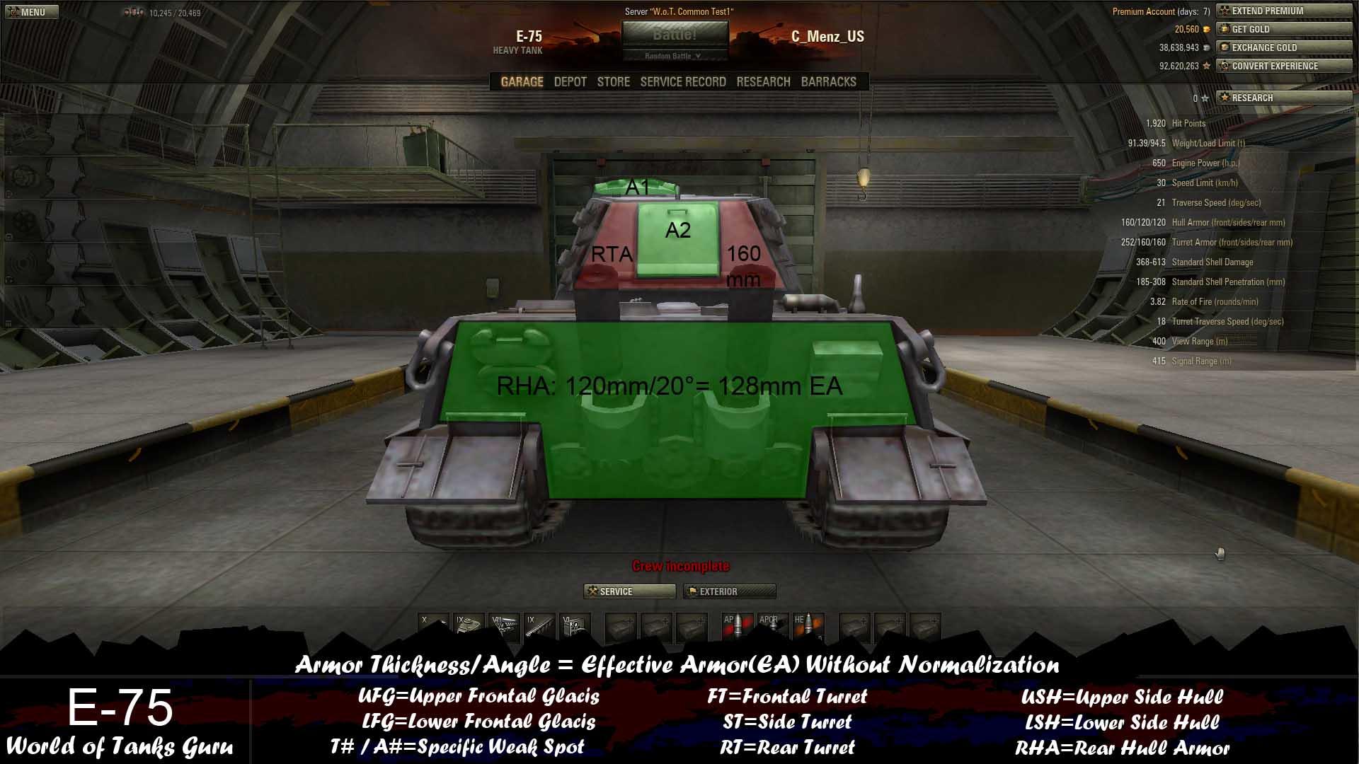 weak spot guide: e-75 - world of tanks guru