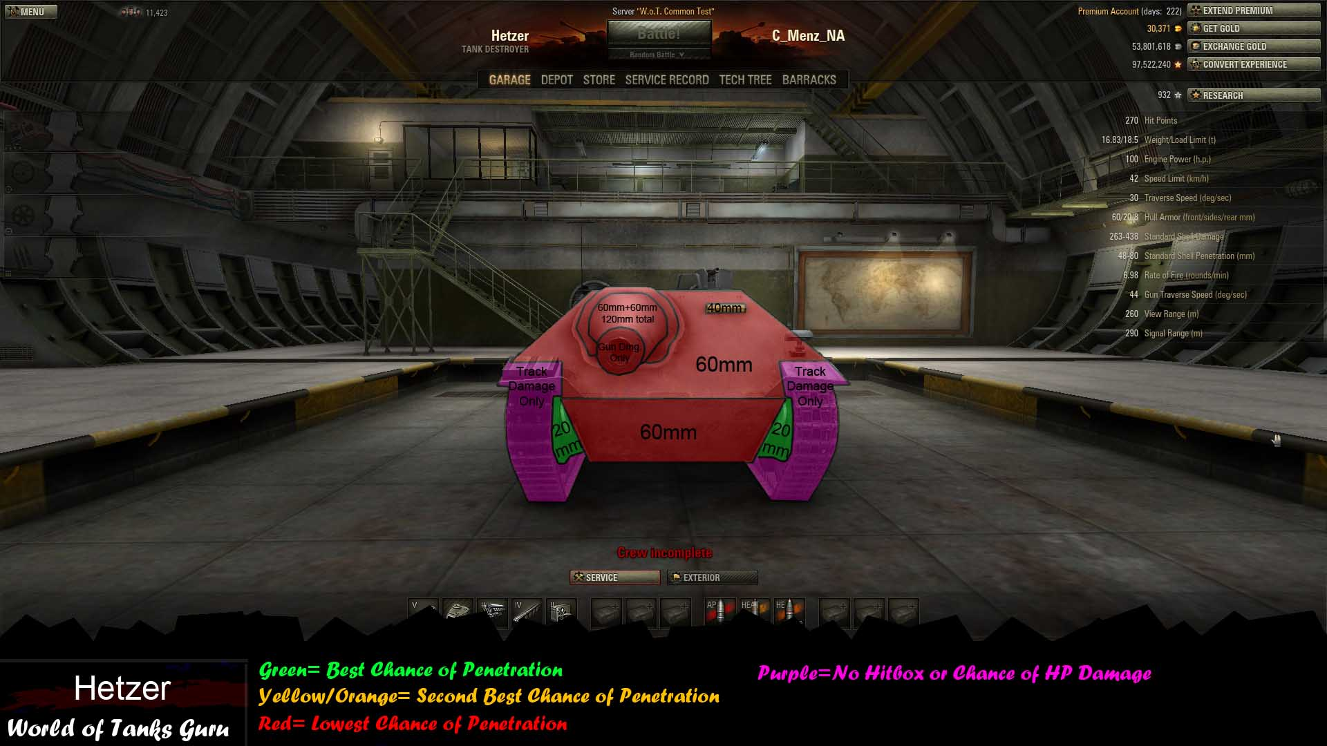 Weak Spot Guide: Hetzer - World of Tanks Guru