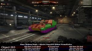 World of Tanks Object 263 Weak Spots Angled