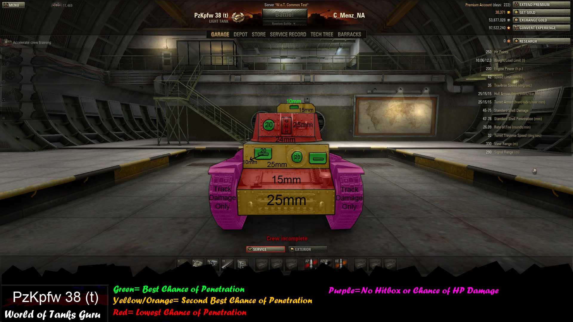 Weak Spot Guide: PzKpfw 38 (t) - World of Tanks