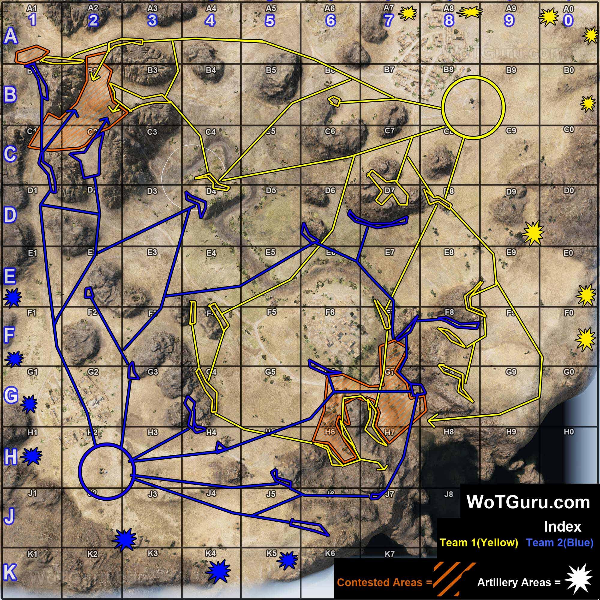 Map Strategy El Halluf World Of Tanks