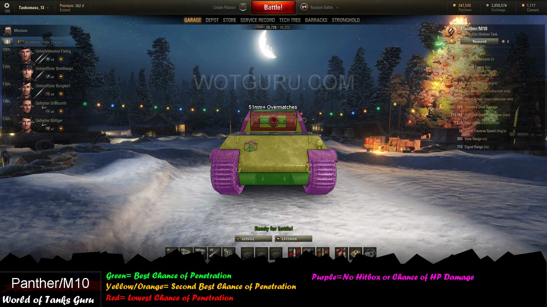 WOT Panther matchmaking
