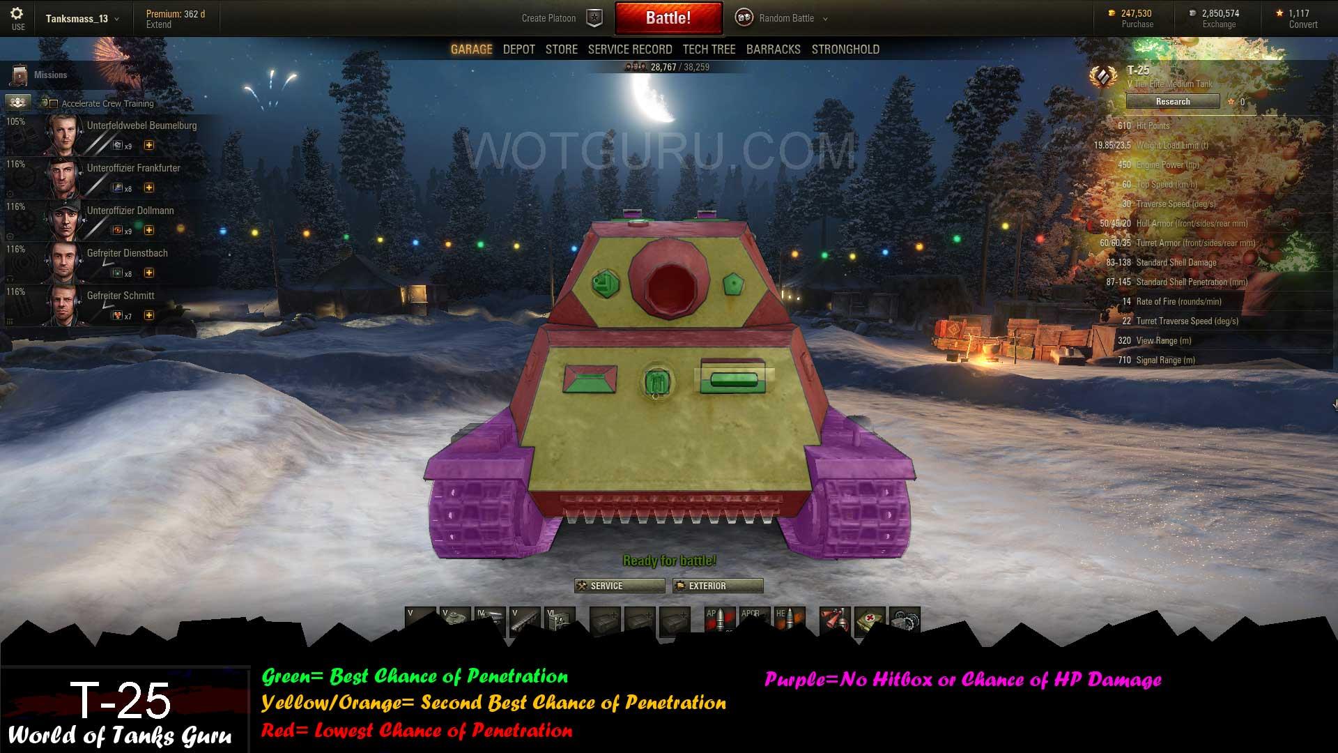 Weak Spot Guide: T-25 - WoT Guru