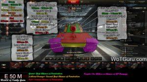 World of Tanks E50M Weak Spots Front