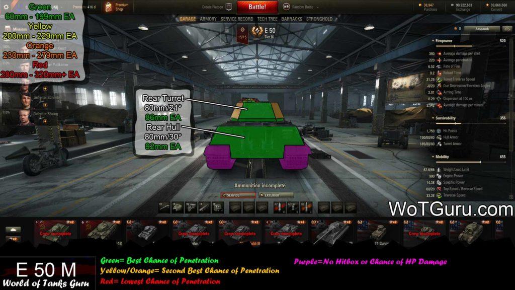 World of Tanks E50M Weak Spots Rear