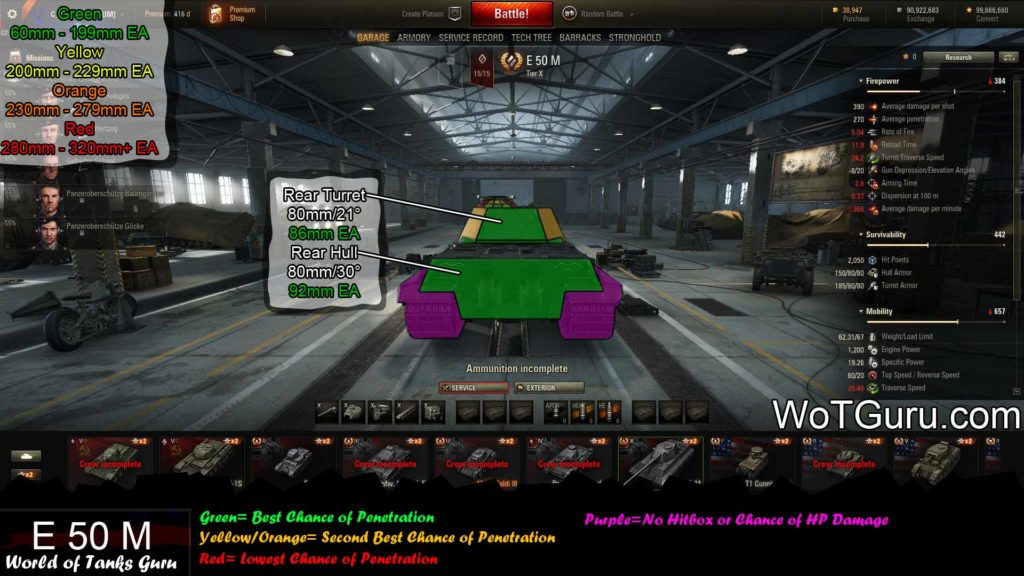 World of Tanks E50 Weak Spots Rear