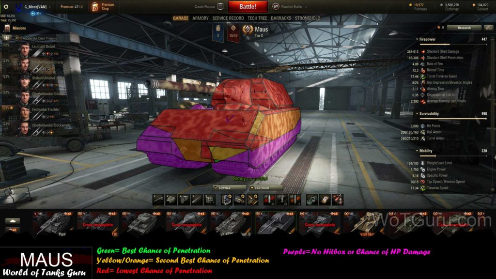 World of Tanks Maus Weak Spots Angled View