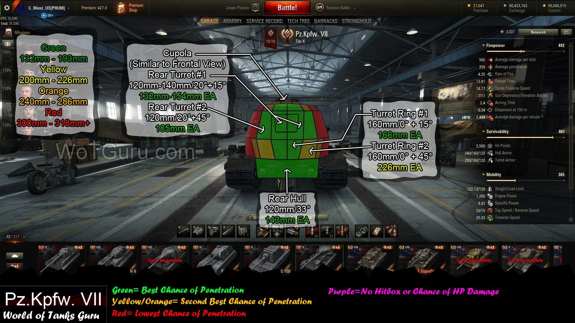 Weak Spot Guide Vk 72 01 K Wot Guru