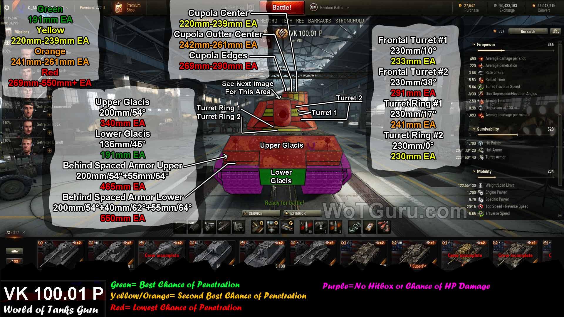 Weak Spot Guide: VK 100 01 P - WoT Guru