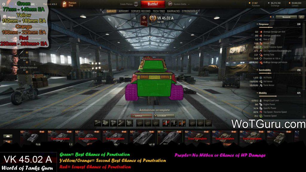 World of Tanks VK 4502 A Weak Spots Rear