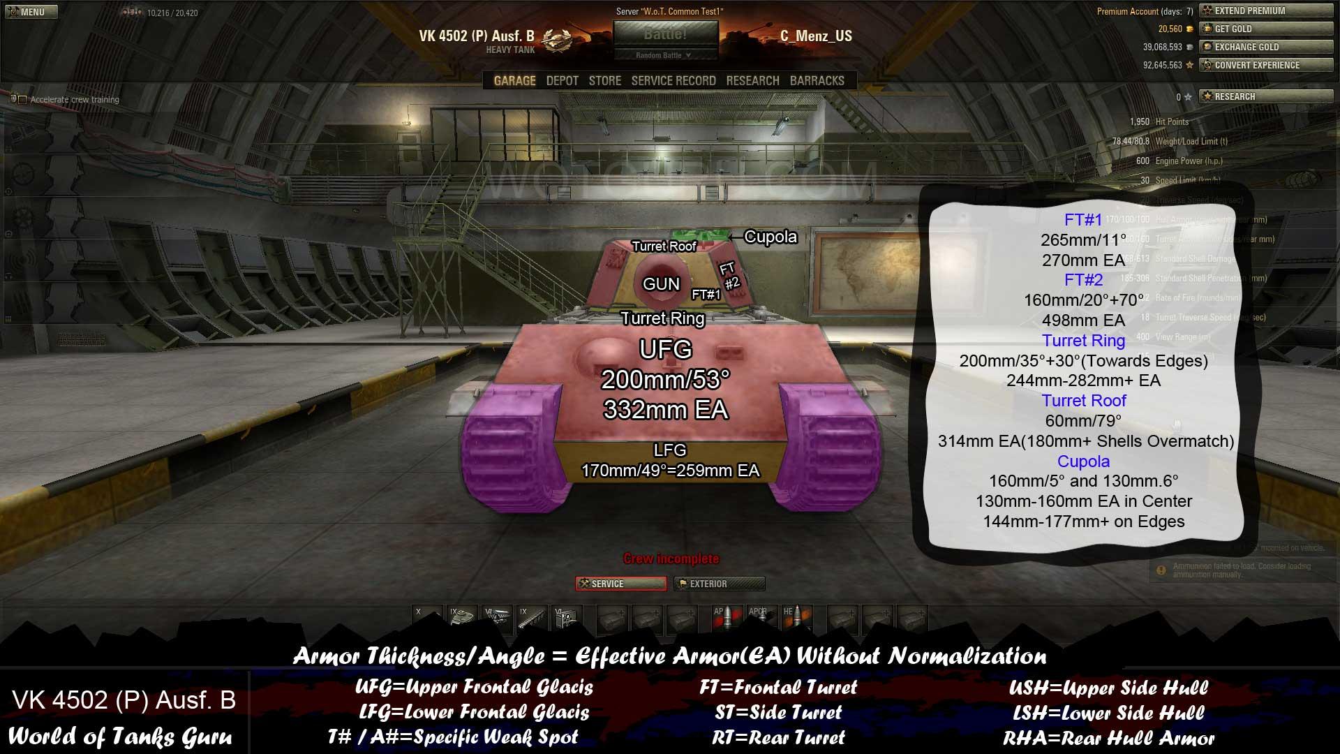Weak Spot Guide: VK 4502 (P) Ausf  B - WoT Guru