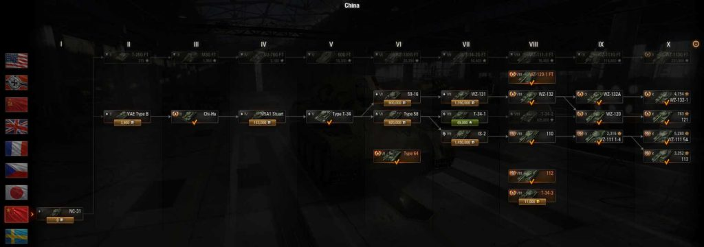 World of Tanks Which Chinese tank line