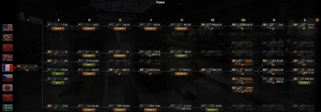 World of Tanks Which French Tank Line