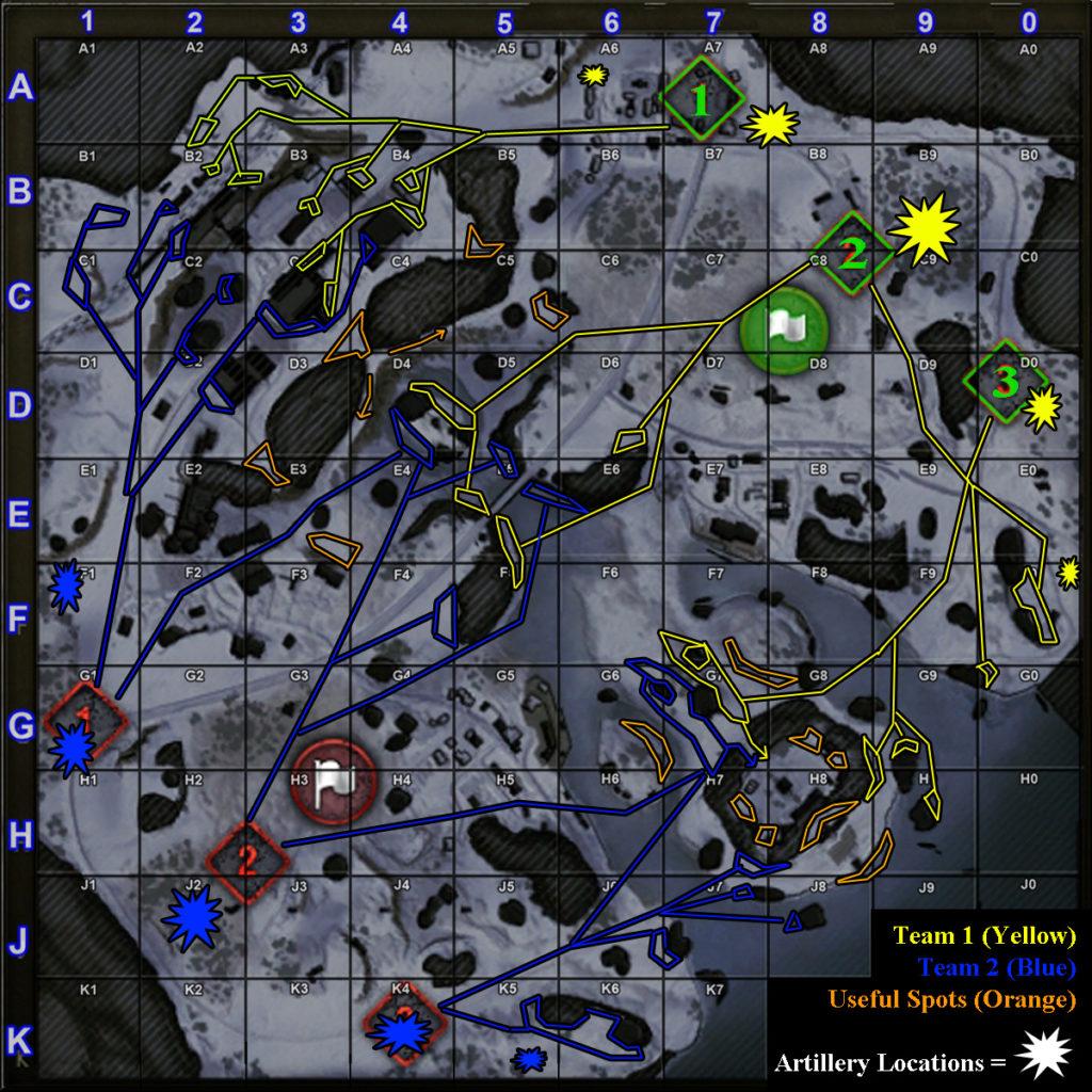 World of Tanks Klondike Strategy Routes Positions Spots